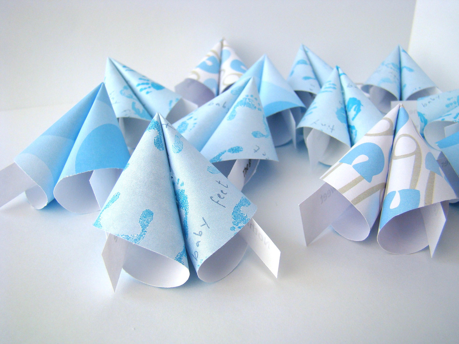 Boy Baby Shower Origami Fortune Cookies - Set of 25 ... - photo#34