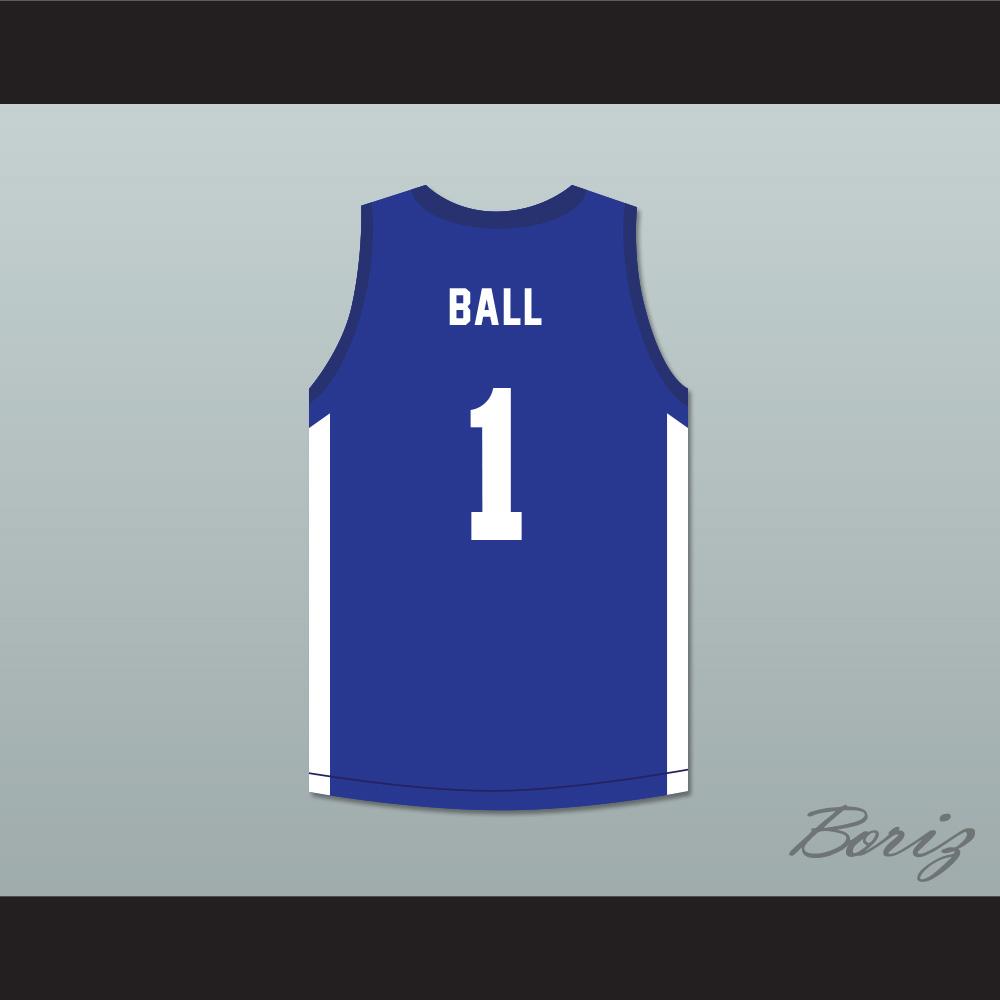 bbca75450fe8 LaMelo Ball 1 SPIRE Blue Basketball Jersey · acbestseller · Online ...