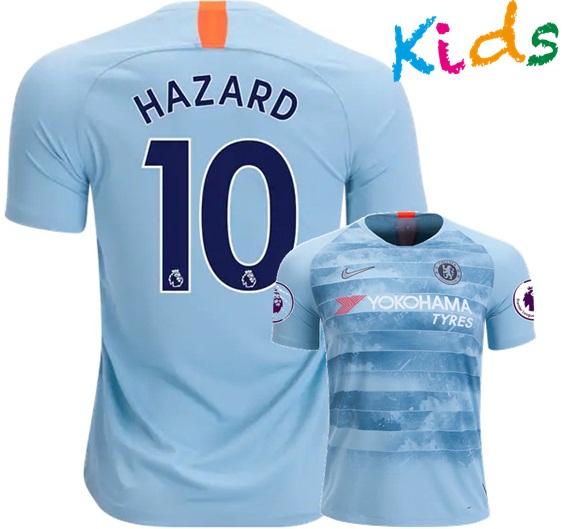 70f156a65b9 Eden Hazard #10 Chelsea 18/19 Third Kids Young Jersey Shirt and Shorts