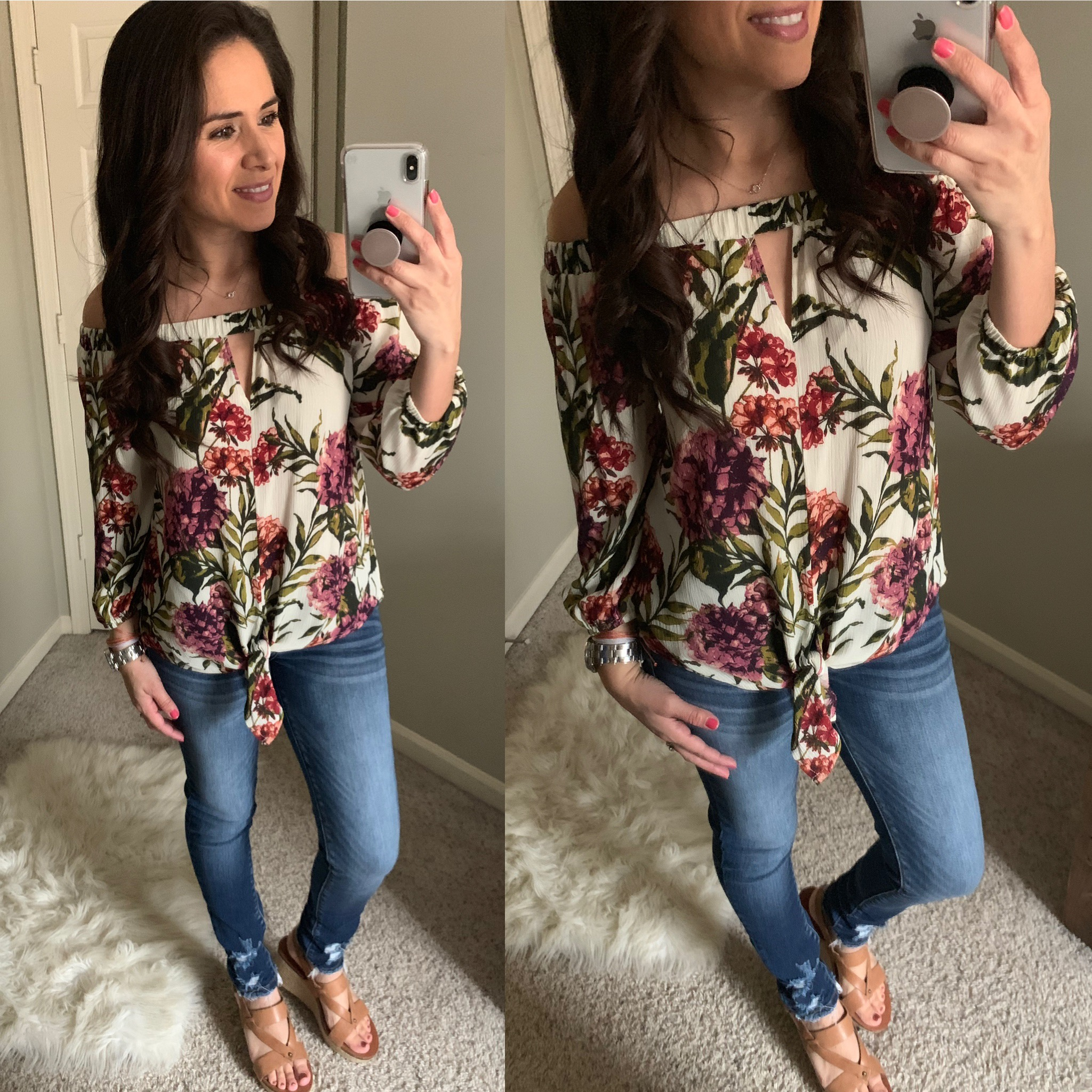 a47bc2bfea Tropical Floral Off Shoulder Top · Blooming Lily Boutique · Online ...