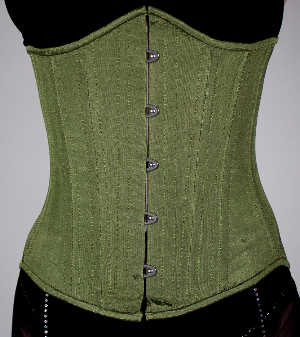 52ef11e08b Green Satin Underbust Corset · Tailor of Two Cities · Online Store ...