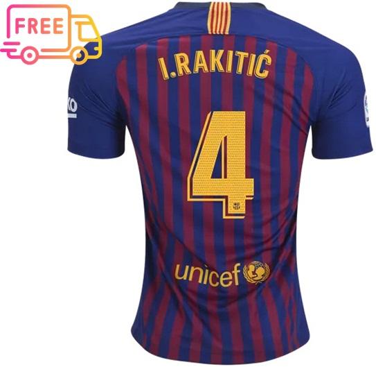 3881af62798 Rakitic  4 FC Barcelona 18-19 Home Jersey Men Shirt Soccer Sports on ...