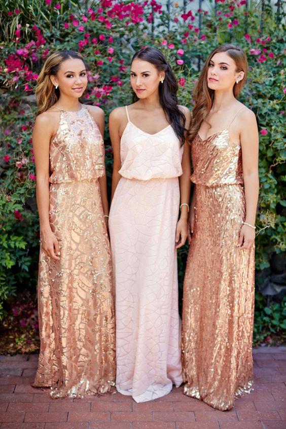 Long bridesmaid dresses, spaghetti