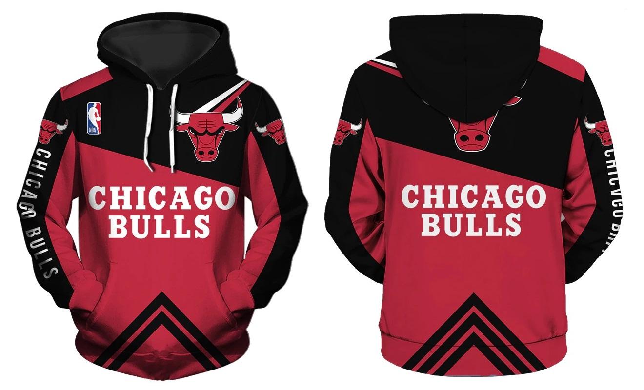 1cf8d1028 Chicago Bulls Hoodie NBA Basketball Sweatshirts New Season ...