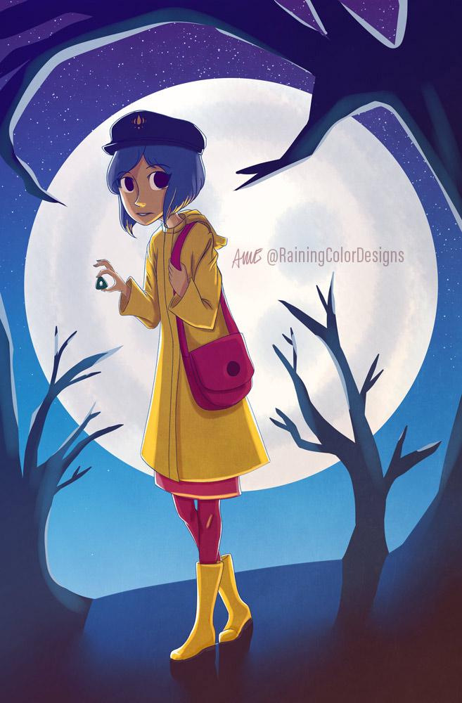 Beware The Other Mother Coraline Fanart Print Sold By It S Raining Color On Storenvy