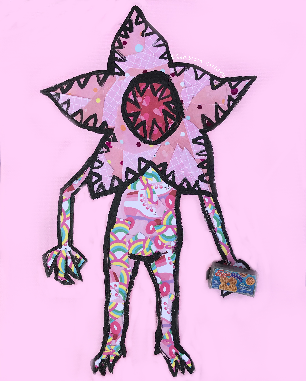 Barbie Nail Art Games Free Download: Demogorgon Sticker (Pastel Pink Demogorgon) On Storenvy