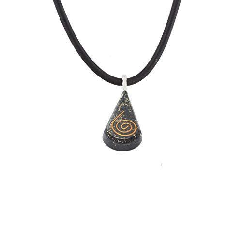 Orgone Pendant – Energy Generator Natural Stone Black Tourmaline Orgonite  Crystal Pendant Necklace for - Emf Protection Vivid Dream Procrastination