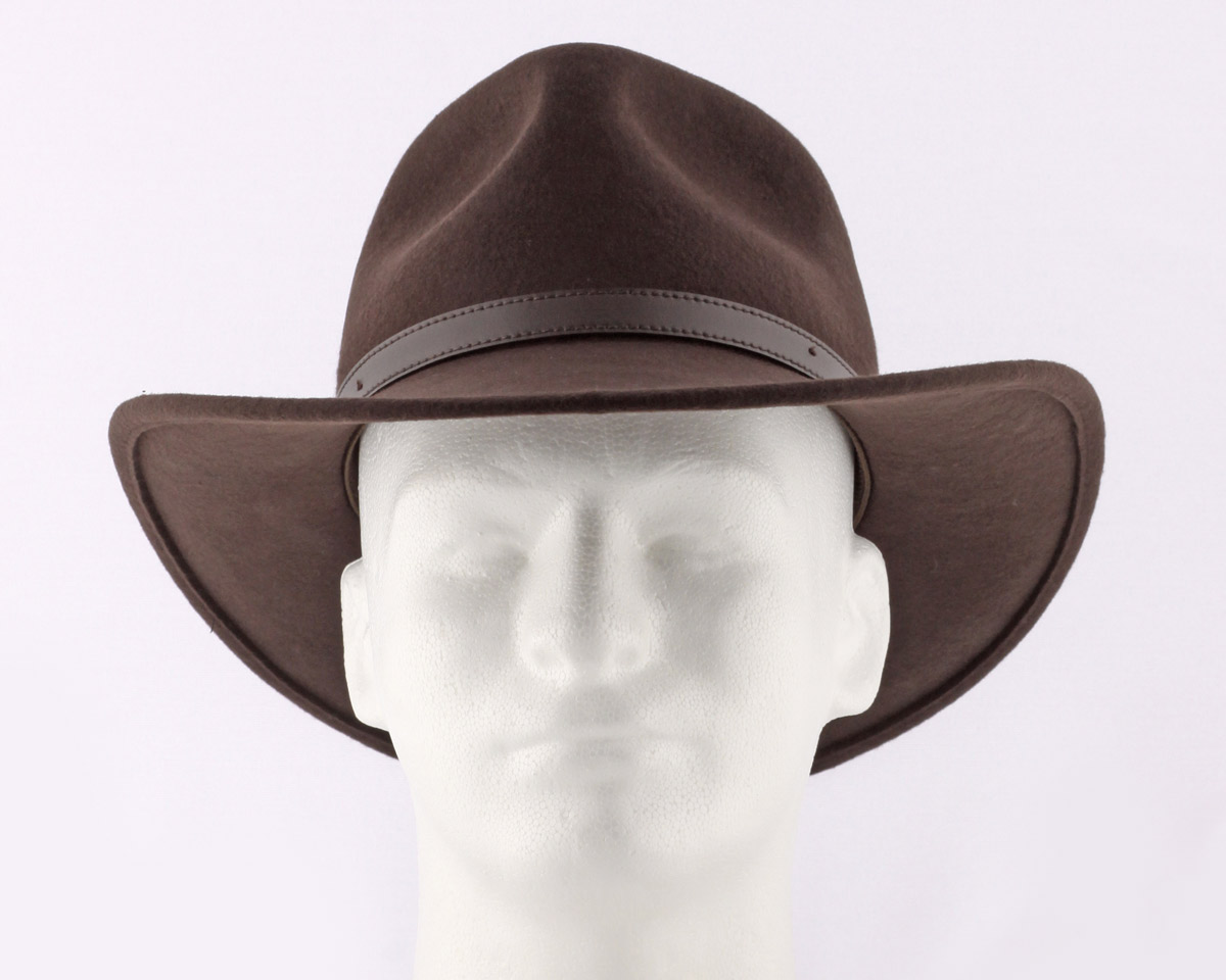 0b64c75c9 Crushable Cowboy Hat - Brown Wool Felt