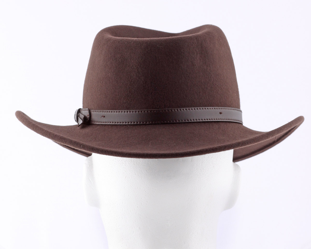 4a32e648ca2598 Crushable Cowboy Hat - Brown Wool Felt - Thumbnail ...