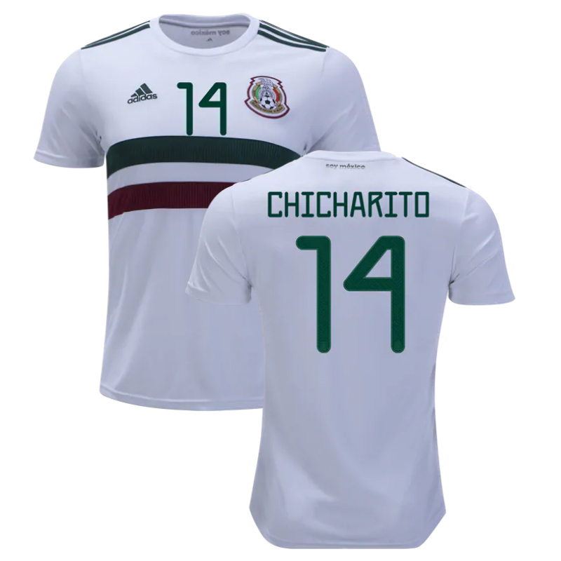 the best attitude eb33d 380ac Chicharito #14 Mexico 2019 National Team Away Soccer Jersey Stadium  Football Shirt White sold by JerseyHunt