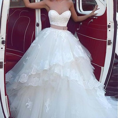 284a359b790 Lace corset wedding dress for bride tulle skirt vestido de novia