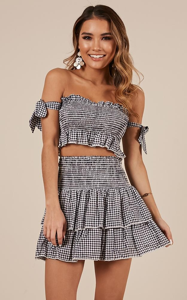 18cd73134 Plaid short tube top,Short skirt suit,Two Piece Set on Storenvy