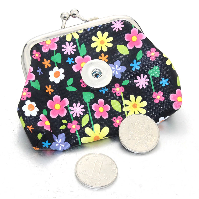 Jewelry Flower Women's Kids Girl Coin PCS/Lot Money Buttons Small 6 2 Colors Wallets Pouch 18MM Purses For Snap Bags (107626386) photo