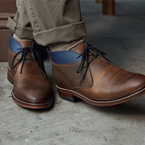 Handmade Men Antique Brown Leather