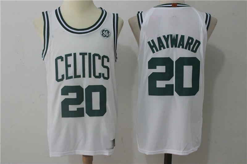 the latest 70441 e13bc 2017-18 Boston Celtics #20 Gordon Hayward Jersey White from topshoes