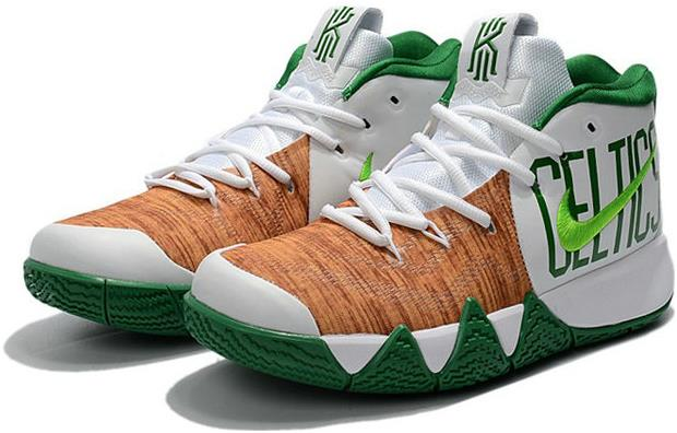 info for dcfc1 2e21f The Lastest Footwear Nike Kyrie 4 Celtics PE White Green Khaki Basketball  Shoe Factory Outlet from BELLDRESS