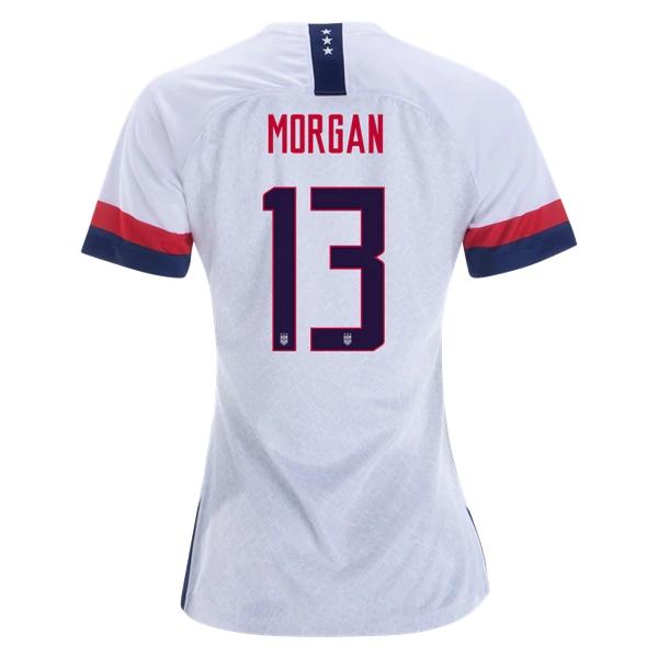 576e6c01f Morgan  13 Women s US National Team Home Soccer Jersey USWNT WWC ...