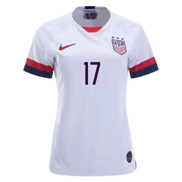 new arrival fc31d 7cf0b Tobin Heath #17 Women's US National Team Home Soccer Jersey USWNT WWC  Stadium Shirt sold by JerseyHunt