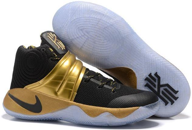 promo code 0bb39 ee566 Nike Kyrie 2 Black Gold Men s Basketball Shoes