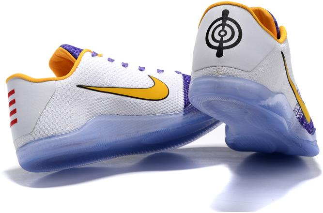 official photos 5c648 f59bc Nike Kobe 11 PE 'Autographed' White and Purple Yellow For Sale from  BELLDRESS