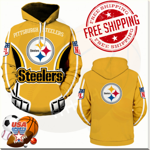 promo code 70e09 54b8d Pittsburgh Steelers, Football Team Sport Hoodie (UNISEX) from USASPORTS