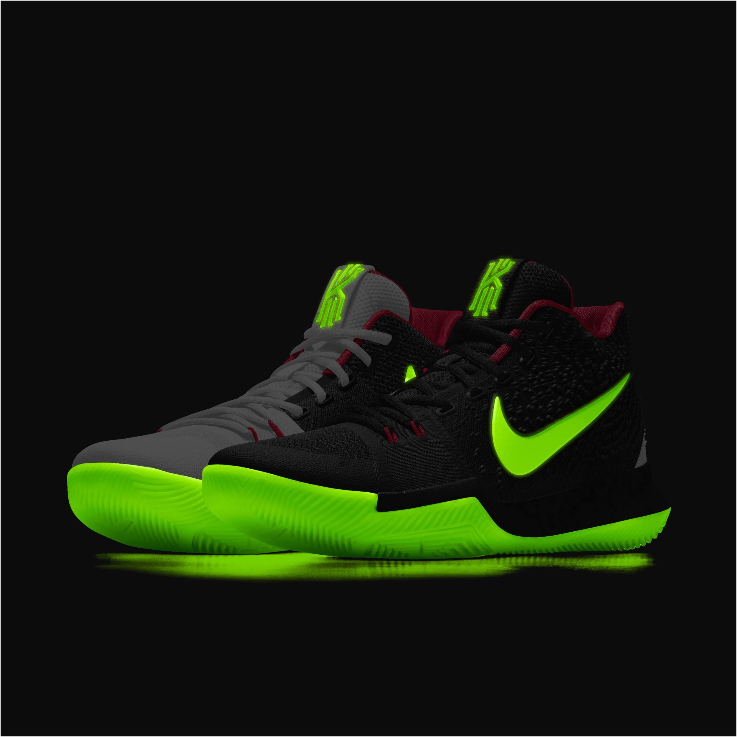 save off e3cf0 f8995 NikeID Kyrie 3 'Yeezy' Black Pure Platinum/Solar Red For Sale from BELLDRESS
