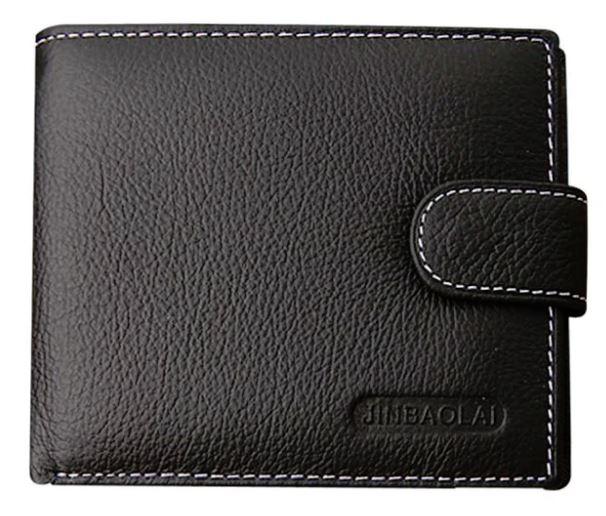 mens wallet leather purse card cash receipt holder organizer bifold wallet purse pocket (109909839) photo