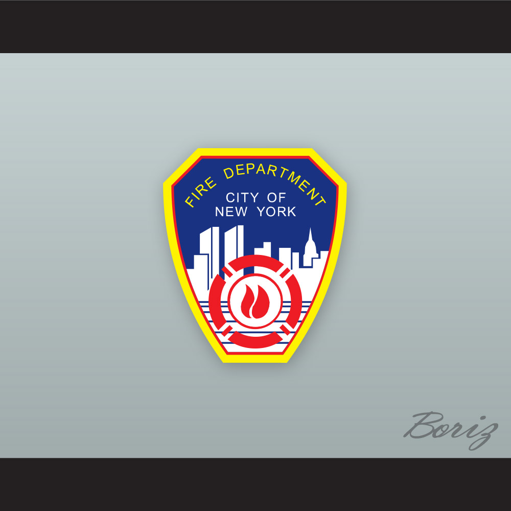 f858df3f102 ... FDNY Bravest 9 White Hockey Jersey Design 1 with Patch - Thumbnail 2 ...
