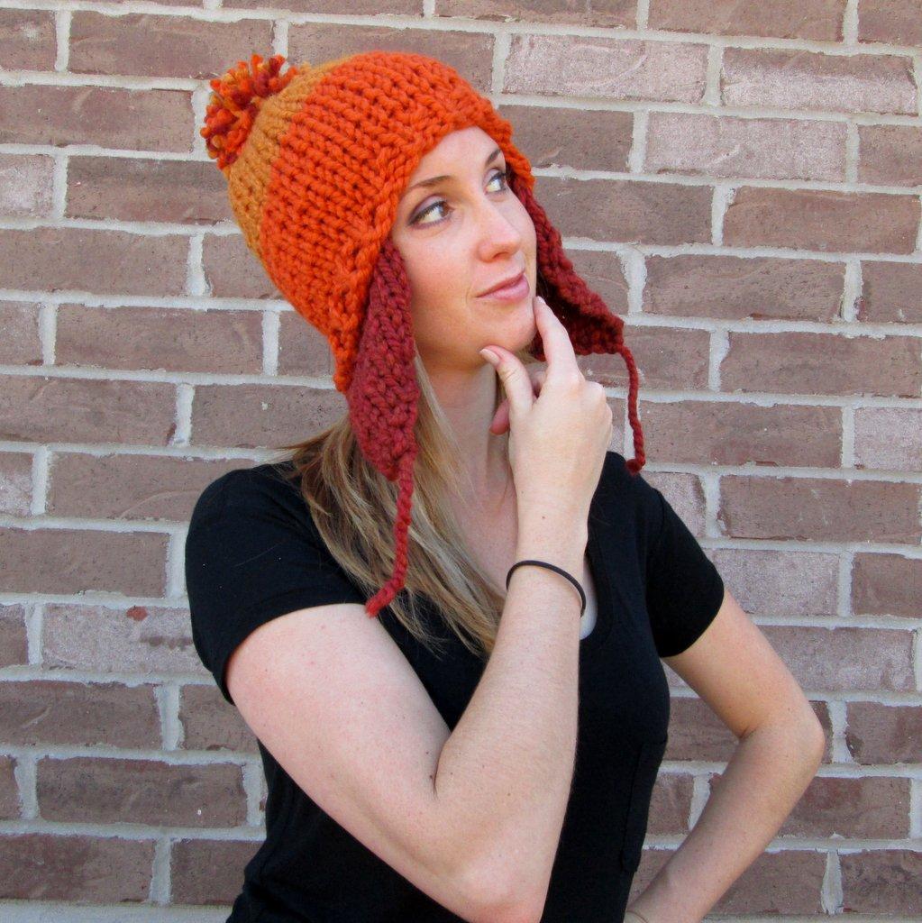 d5f5236d98fad Chunky Hand-Knit Hat - 80% Acrylic 20% Wool · MasHatShoppe · Online ...