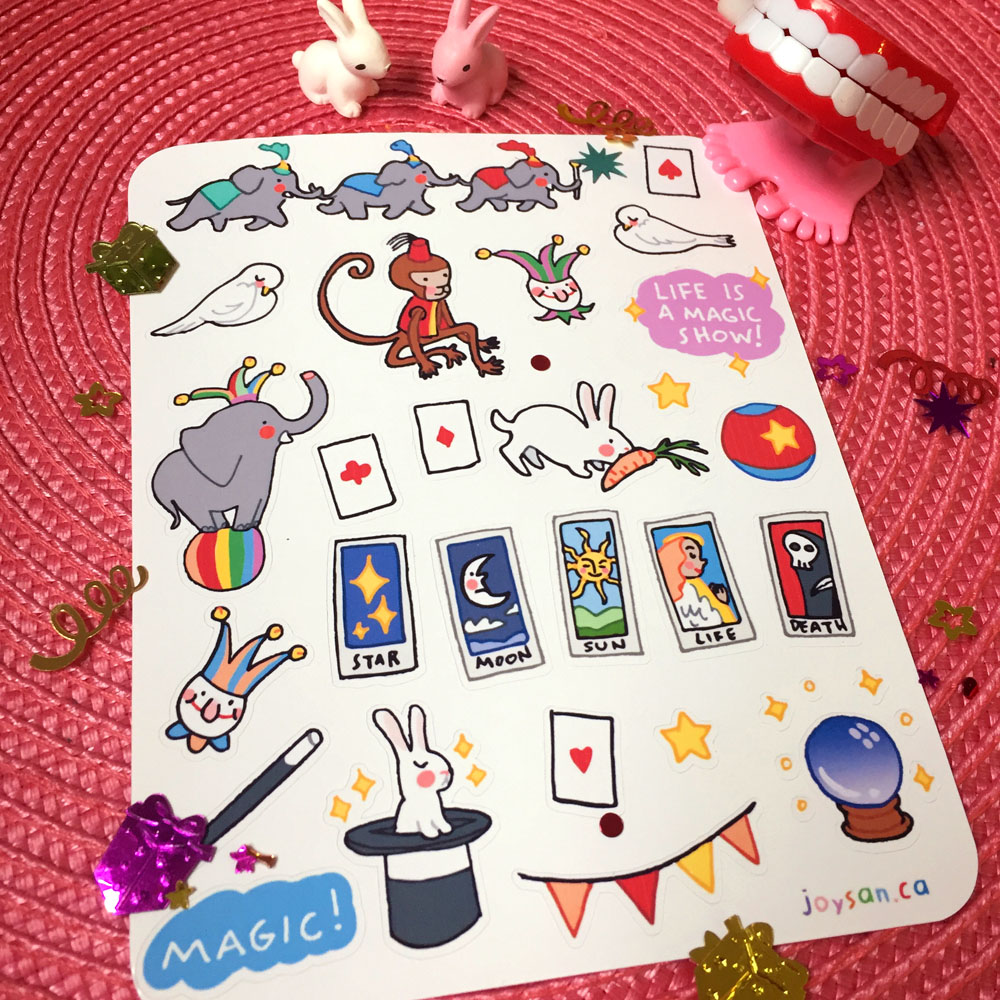 best service 80694 9797b Life is a Circus Sticker Set sold by sexytuna