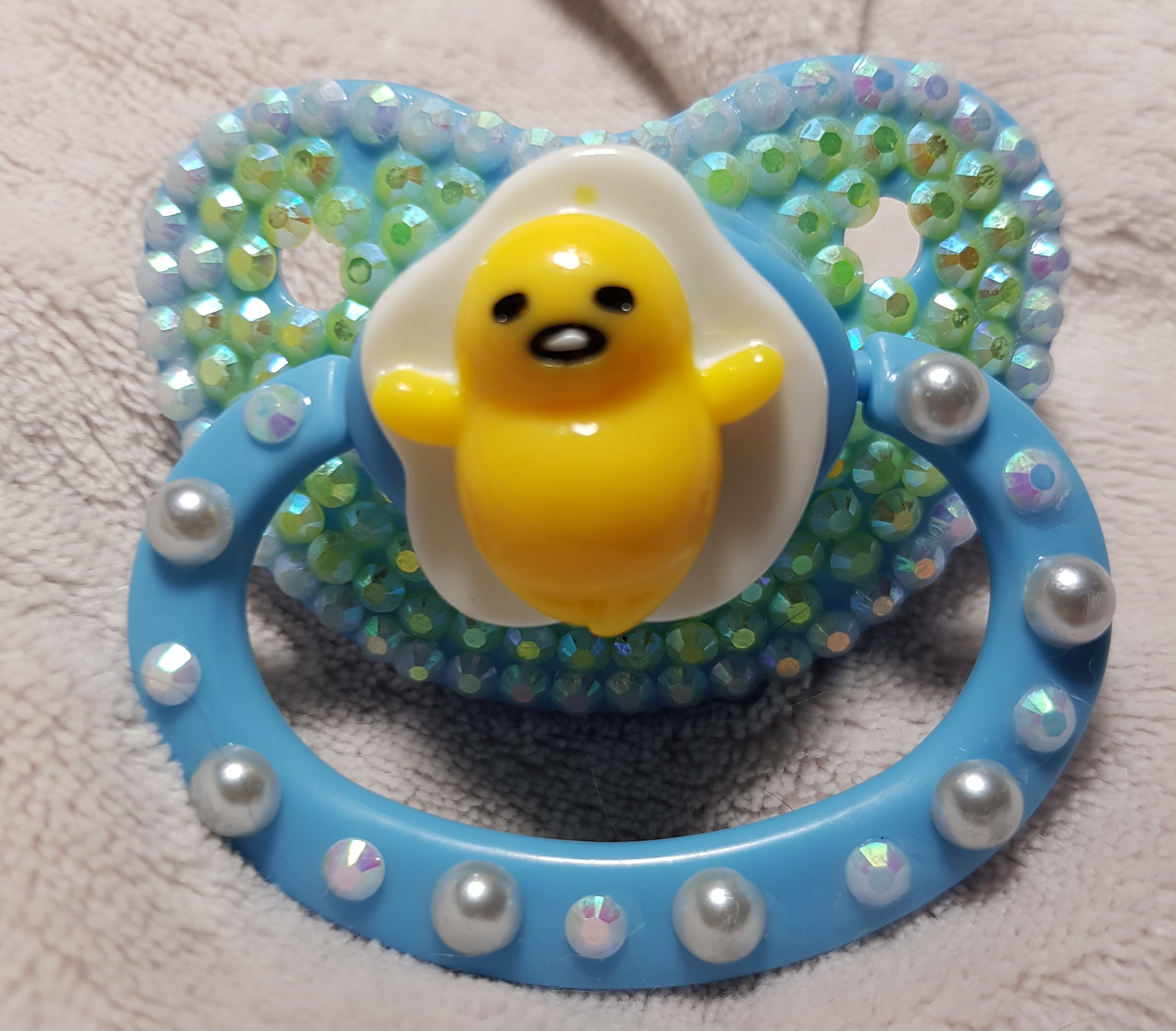 Blue Gudatama Pacifier Sold By Luvdolly Boutique On Storenvy