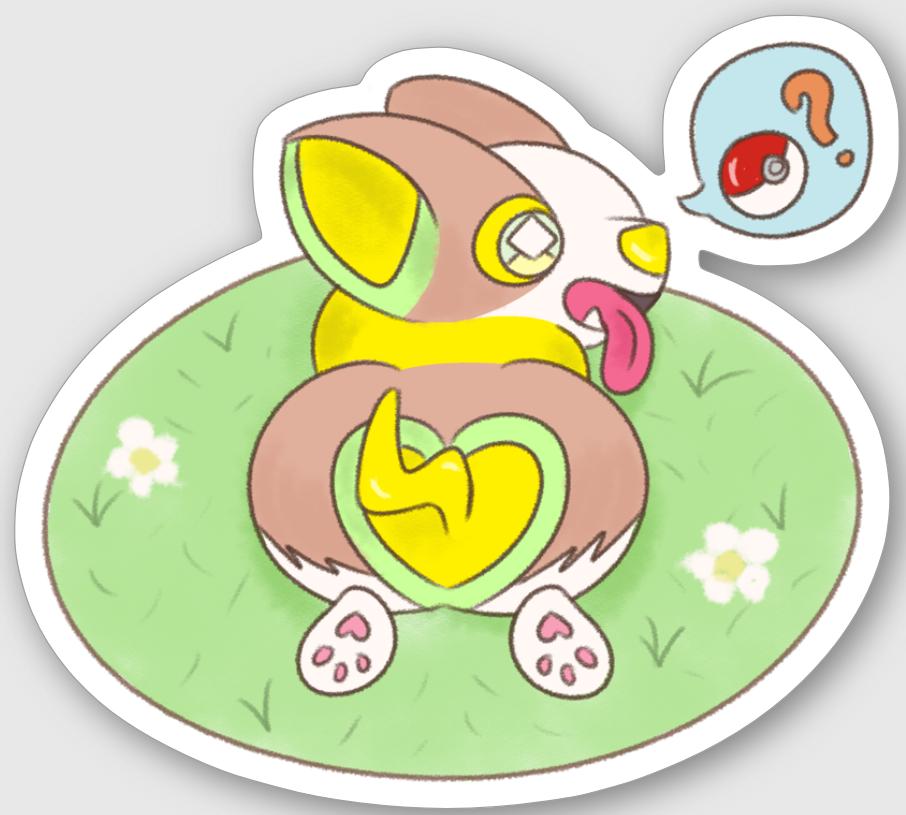 Yamper Sticker Pokemon Sword And Shield On Storenvy