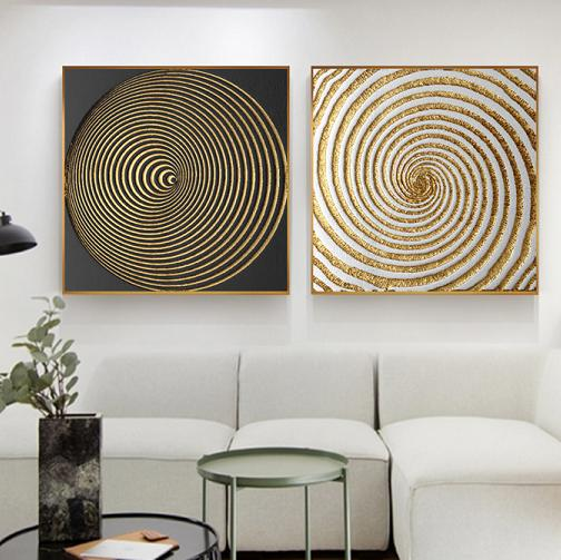 Luxury Black White Gold Abstract Decor Wall Art Retro Canvas Collection No Lbg 0g301 From Belladonna Home Decor