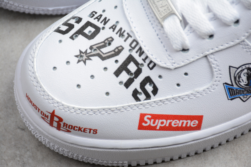 size 40 b55b4 9ae08 Nike x Supreme x NBA Air Force 1 Mid 07 white AF1 Shoes sold by ivicente