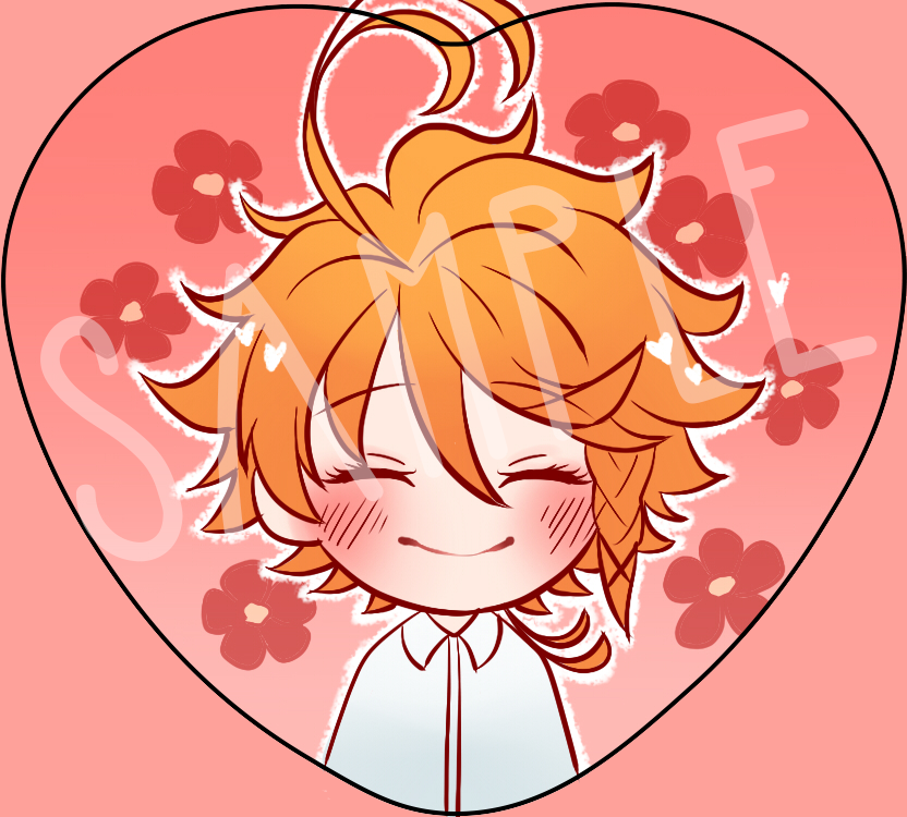 Promised Neverland Heart Buttons