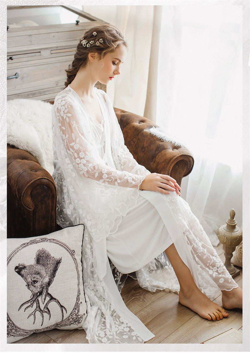 Sexy Robe Set Two Pieces Nightgown Set