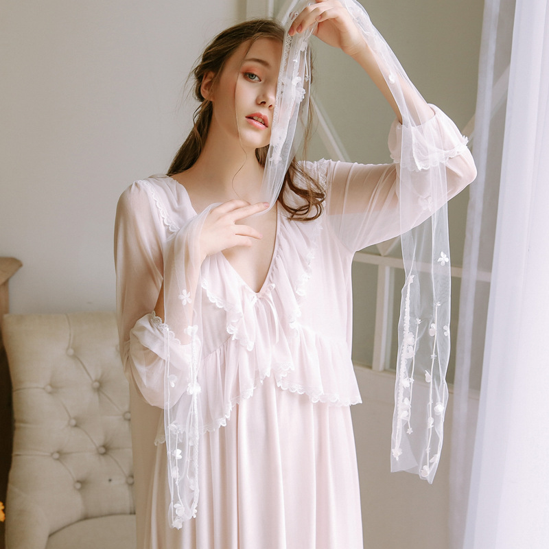 Lace sexy lovely princess nightgown
