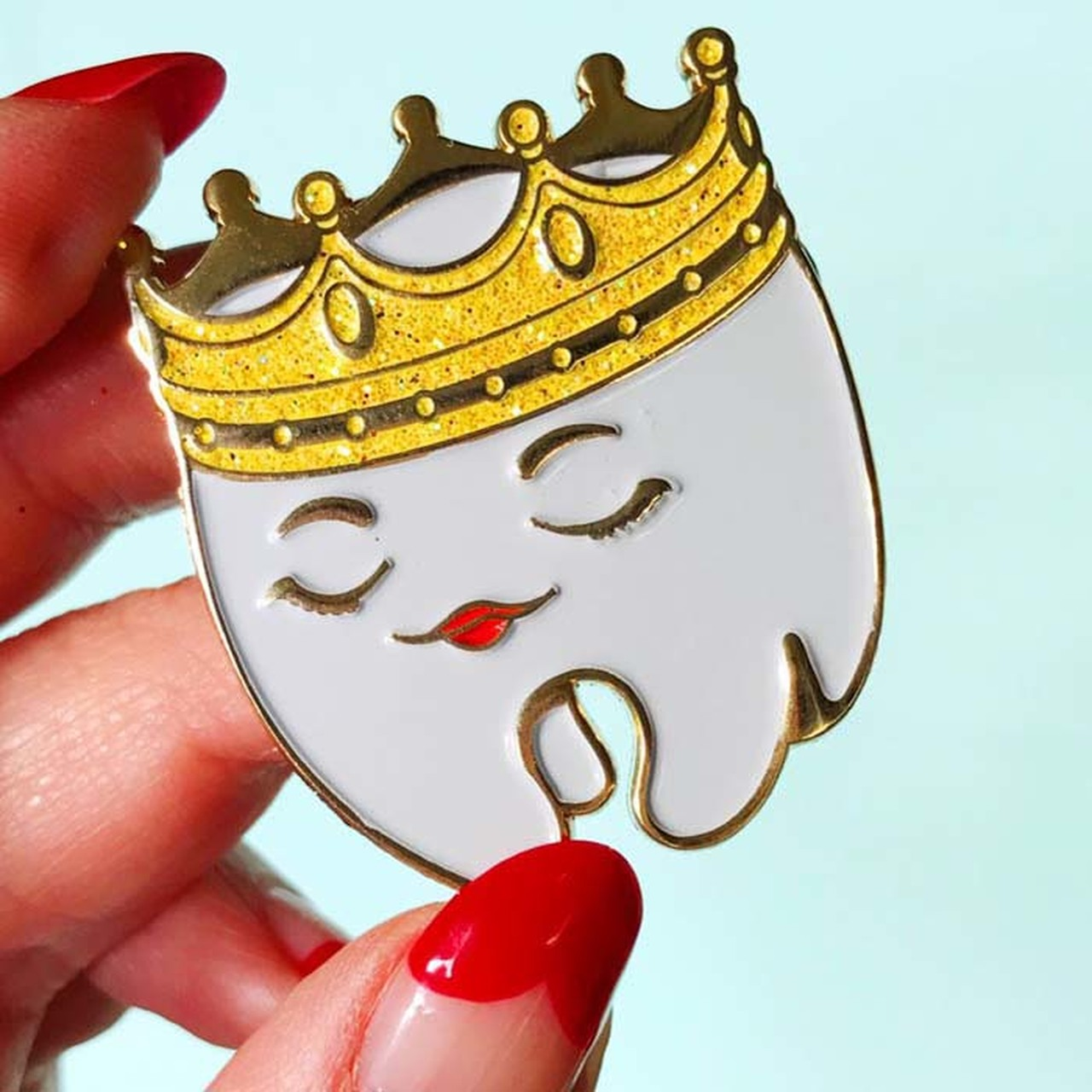 She_Was_Crowned_Tooth_Enamel_Pin