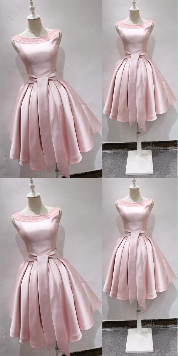 Pink Satin Party Dress