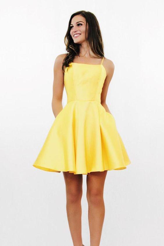 Delightful Surprise Yellow Skater Dress,