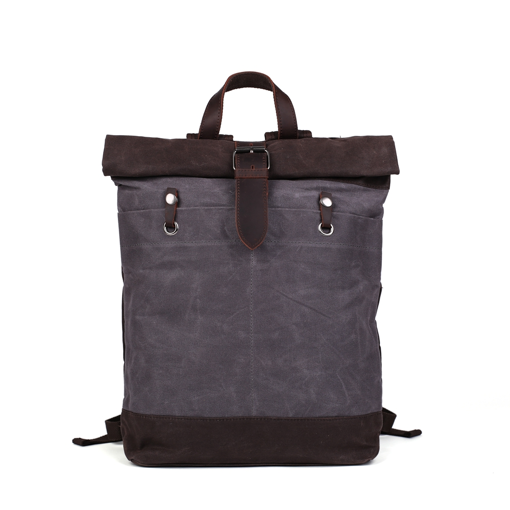 Canvas Backpack/ Waxed Canvas Backpack /Hiking Travel Backpack