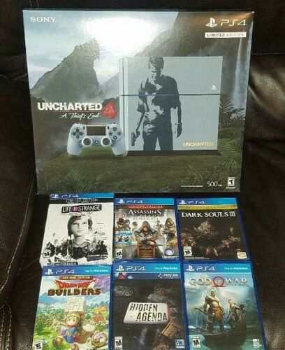 Ps4 Uncharted 4 Limited Edition 500gb Console Sealed Ps4 W 6