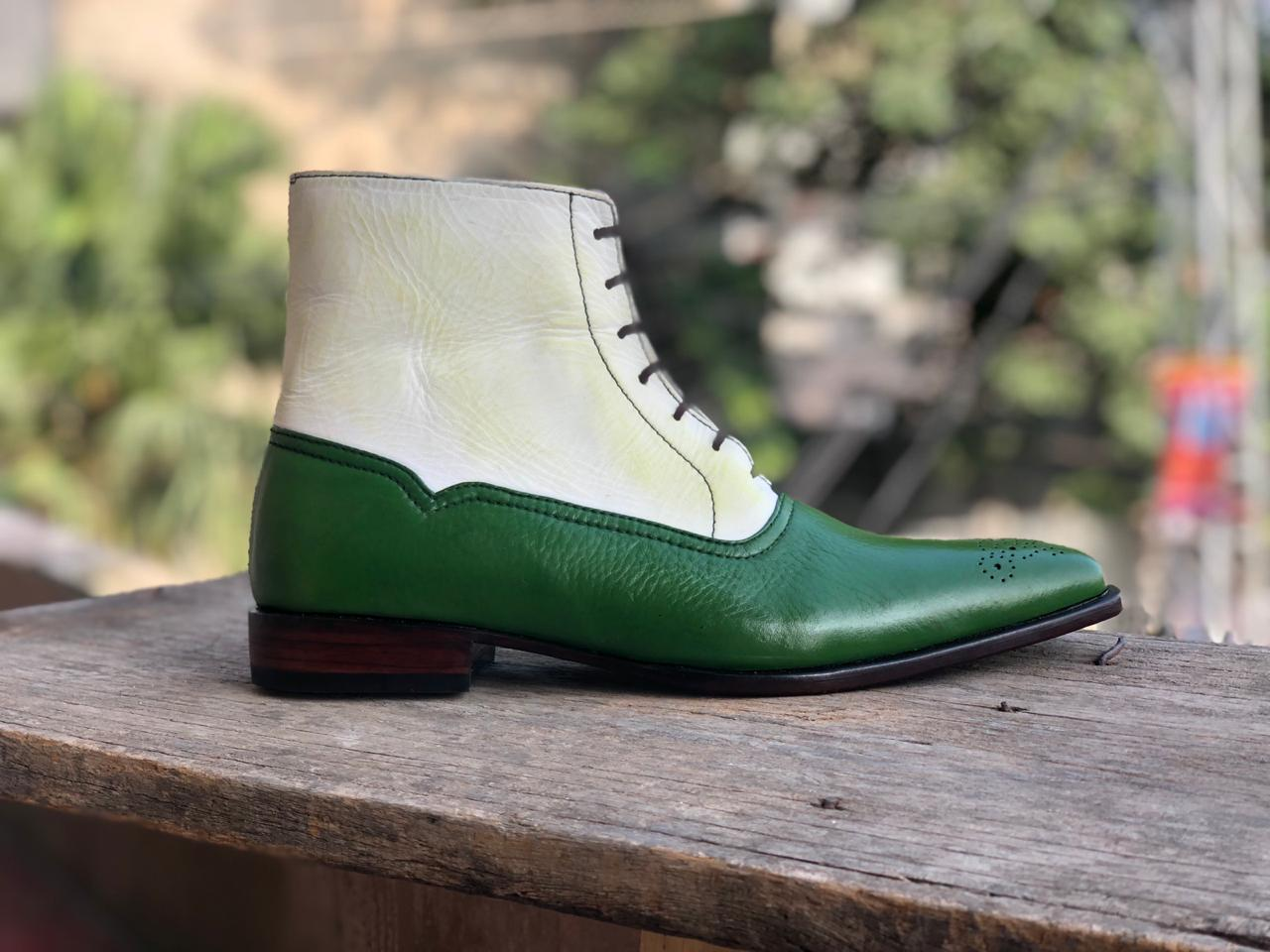 Mens Boots | Mens Ankle Boots & Mens White Green Casual Boots