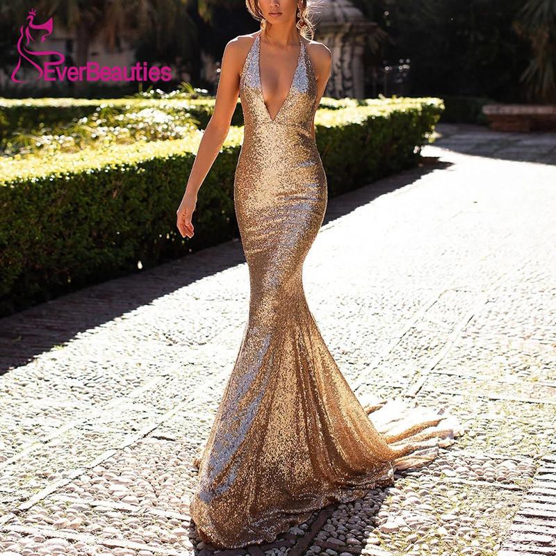 Evening Dress 2019 Dress Party Formal Dress Bling Glittering Sequins Vestidos Prom Dresses Homecoming Dresses Vestidos De Festa