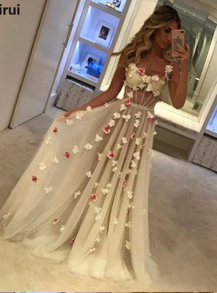 Sexy Bodycon Floral Sequined Long Dress