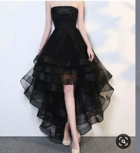 Black_Ball_Gown_Tulle__Prom_Dresses_Strapless_Lace_Bodice_Evening_Formal_Gowns