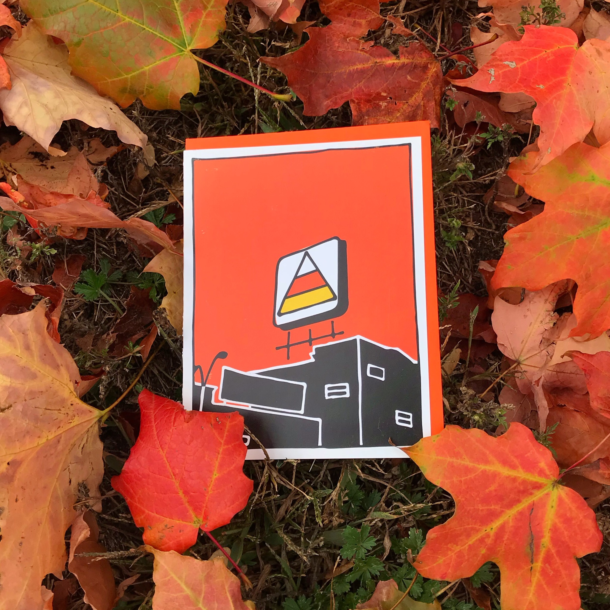 Storenvy coupon: Candy Corn Over Kenmore Halloween card