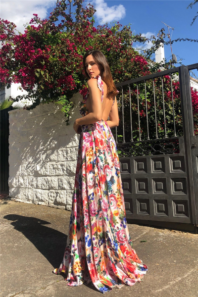 Sexy Bohemian Elegant Floral Print Long Dress