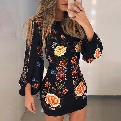 Beautiful Black Sexy Back Long Sleeve Dress