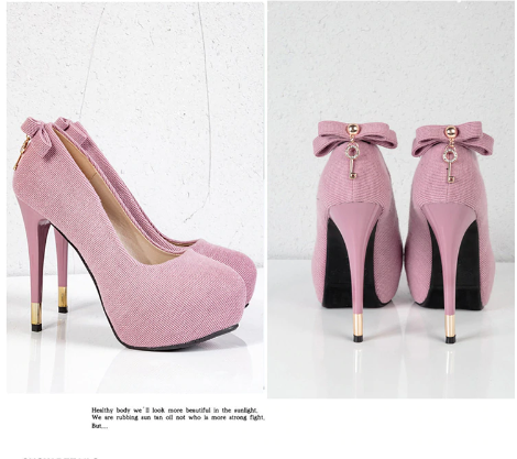 Sexy Bow Design High Heels Fashion Shoes